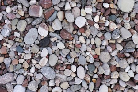 Sea stone background. Pile of stones. Standard-Bild