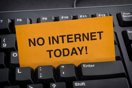 No Internet for Today! Internet addiction concept.