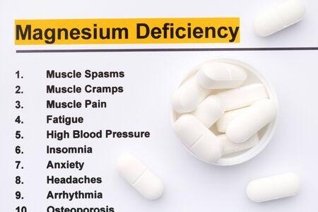Magnesium deficiency. Close up.