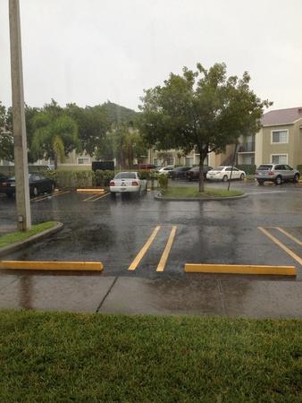 Raining morning.