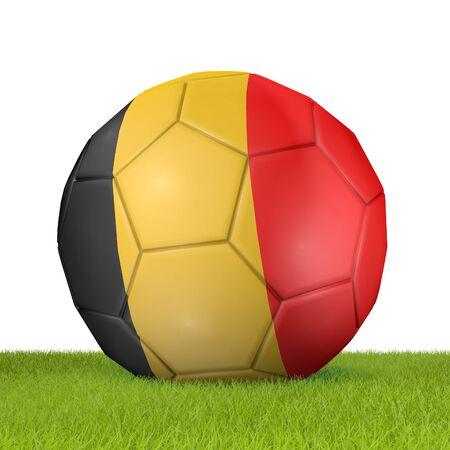 Football - flag of Belgium -3