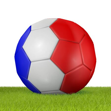 penalty flag: Football - flag of France -4