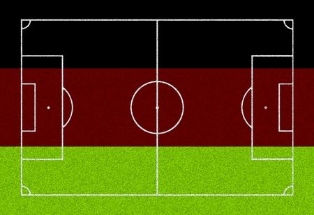 footbal: Footbal field - flag of Germany
