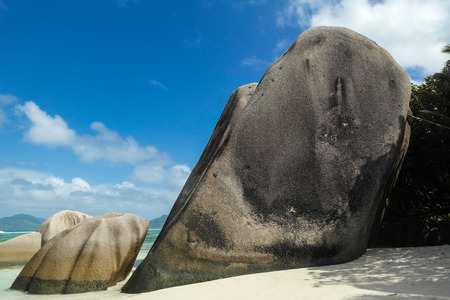 creole: Anse Source dArgent - beach on island in Seychelles