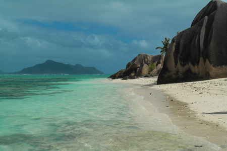 Anse Source dArgent - beach on island in Seychelles