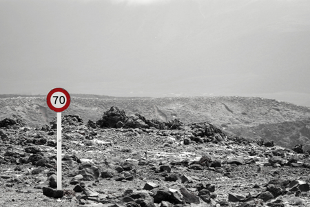 speed limit sign in New Zealand Stock Photo