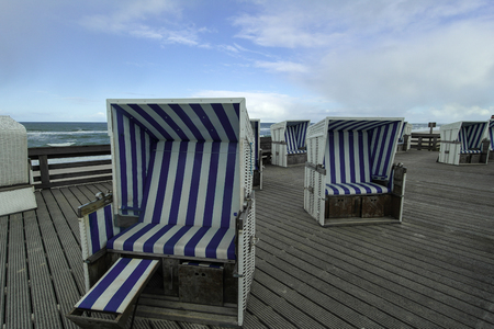 german north sea region: Hooded Beach Chairs in Westerland (Sylt)