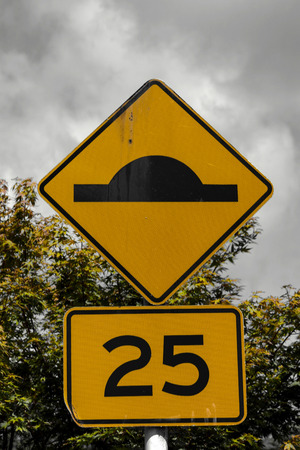 New Zealand road sign Stock Photo