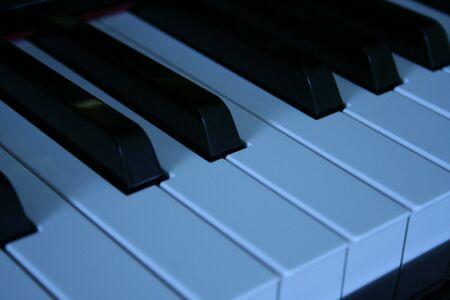 블루 캐스트 피아노 건반 스톡 콘텐츠
