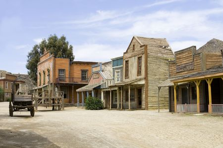 saloon: Western scenery in the south of spain. Stock Photo