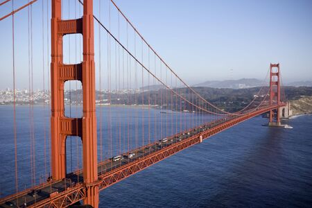 Golden Gate Bridge in San Fransisco. Horizontale shot