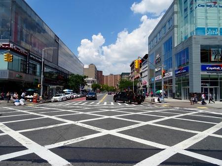 segregation: road at Harlem Editorial