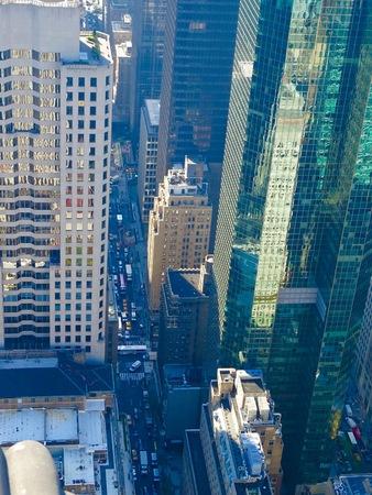 skyscrapers in Manhattan Imagens