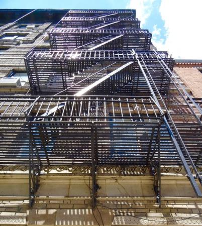 iron fire escape in New York