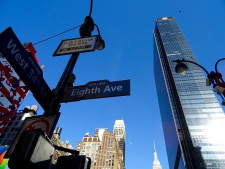8Ã, Â ° Avenue in Manhattan