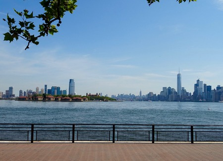 new jersey: View of Manhattan and New Jersey Stock Photo