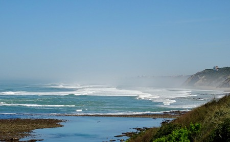 waves in the Basque country in Saint Jean de Luz Stock Photo