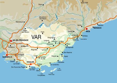 Côte d'Azur kaart