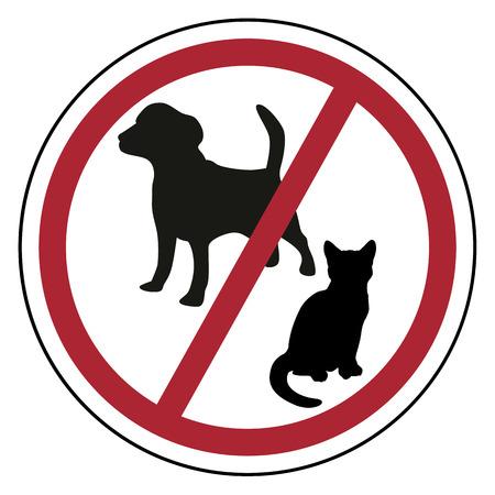 Les animaux ne sont pas acceptés Banque d'images - 55158683