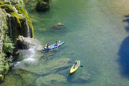 Gorges du Tarn, canoe kayak ride 新聞圖片
