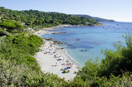 フランスのリビエラ ビーチ、サン ・ トロぺ、Escalet ビーチの近くに