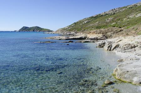 French riviera beaches, near to St. Tropez, Cap Taillat Stock Photo