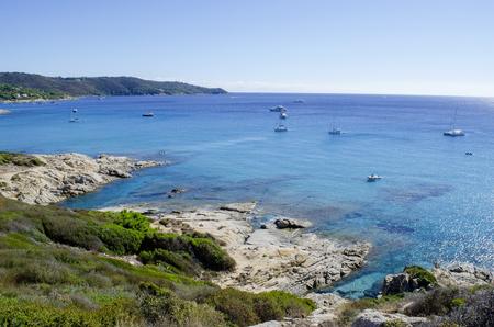 French riviera beaches, near to St. Tropez, Cap Taillat 版權商用圖片