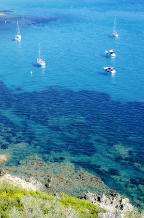 フランスのリビエラ ビーチ、サン ・ トロペ、キャップの Taillat の近くに