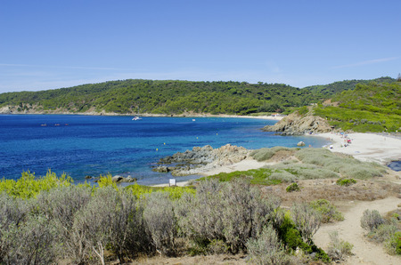 tropez: French riviera beaches, near to St. Tropez, Cap Taillat Stock Photo