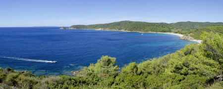 tropez: French riviera beaches, panorama near to St. Tropez, Cap Taillat