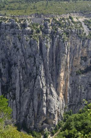 Verdon canyon cliffs 版權商用圖片