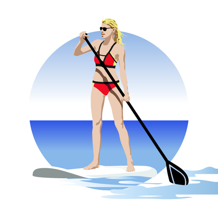 Stand up paddle on the sea