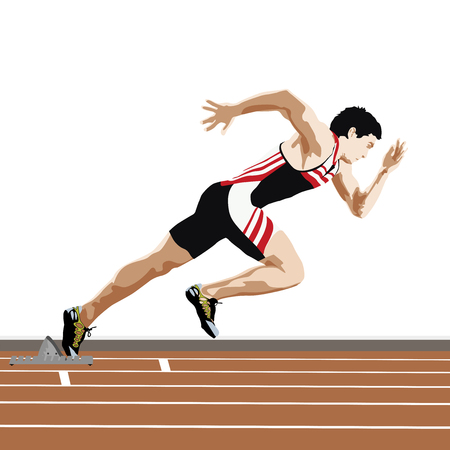quickness: Sprinter start up Illustration
