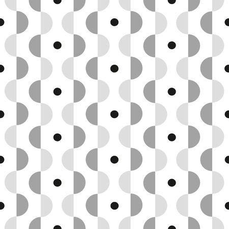 モダンな幾何学的なパターンは、黒と白。  イラスト・ベクター素材