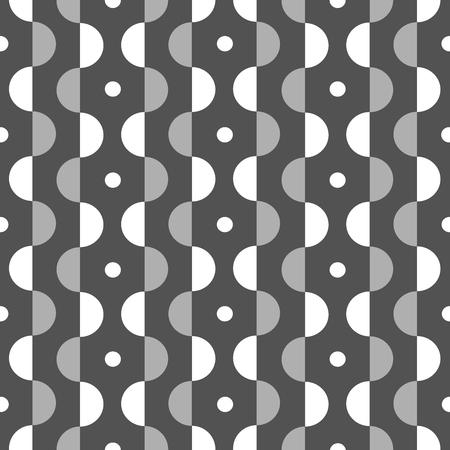 Modern geometric pattern, black and white. 向量圖像