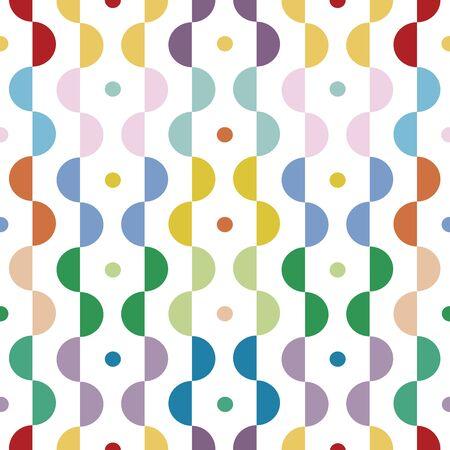モダンな幾何学的なパターンは、カラフルです。