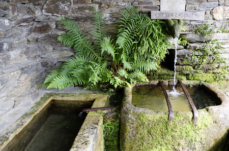 Village fountain, fresh spring water and drinking water