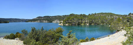 Lake of Esparron in Verdon, France