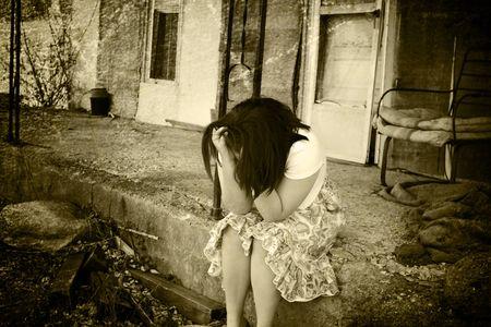 Depresso adolescente Archivio Fotografico - 4513868