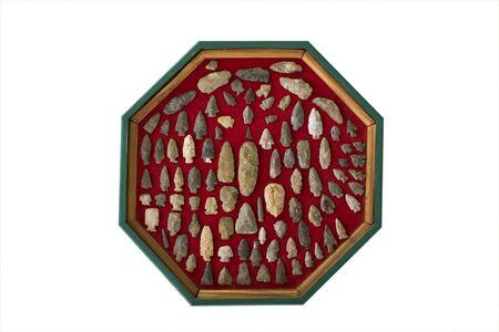 indian artifacts: Native American Arrowheads Stock Photo