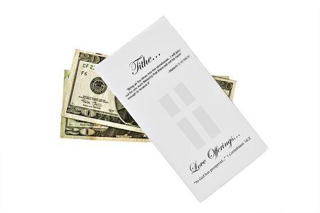 Tithe envelop with cash