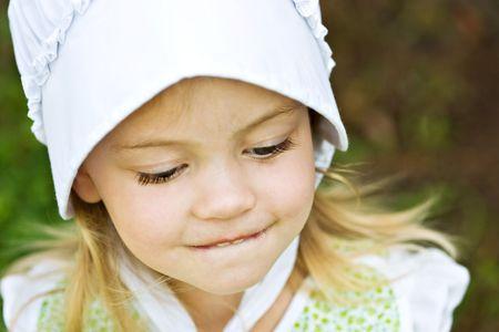 bashful: Bashful Amish Child
