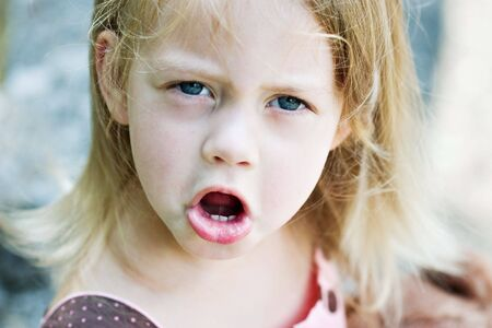 two persons only: Angry toddler throwing a fit
