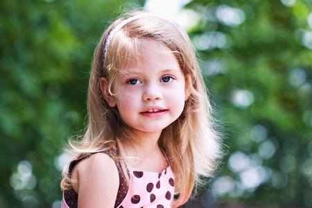 kindergartner: Portrait of a little girl