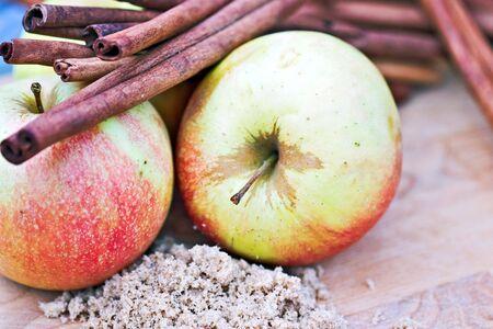 'cinnamon bark': Apples, brown sugar and cinnamon bark.