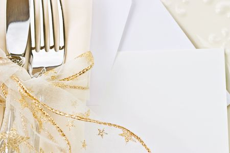Holiday place setting. Blank card included.  photo