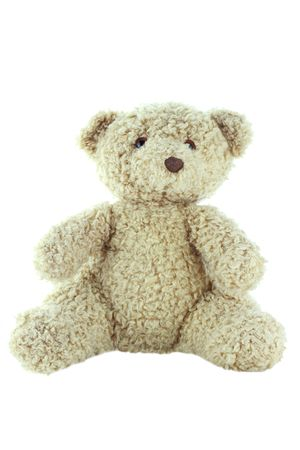 Old generic teddy bear isolated on a white background Stock Photo - 6670807