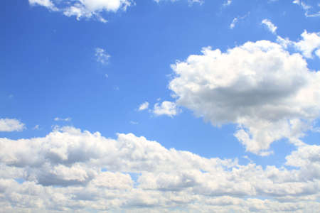 Cloudscape over beautiful blue skies.