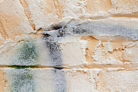 Rough texture of an orangish colored brick wall.