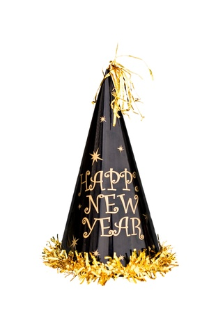 New Years hat isolated on a white background
